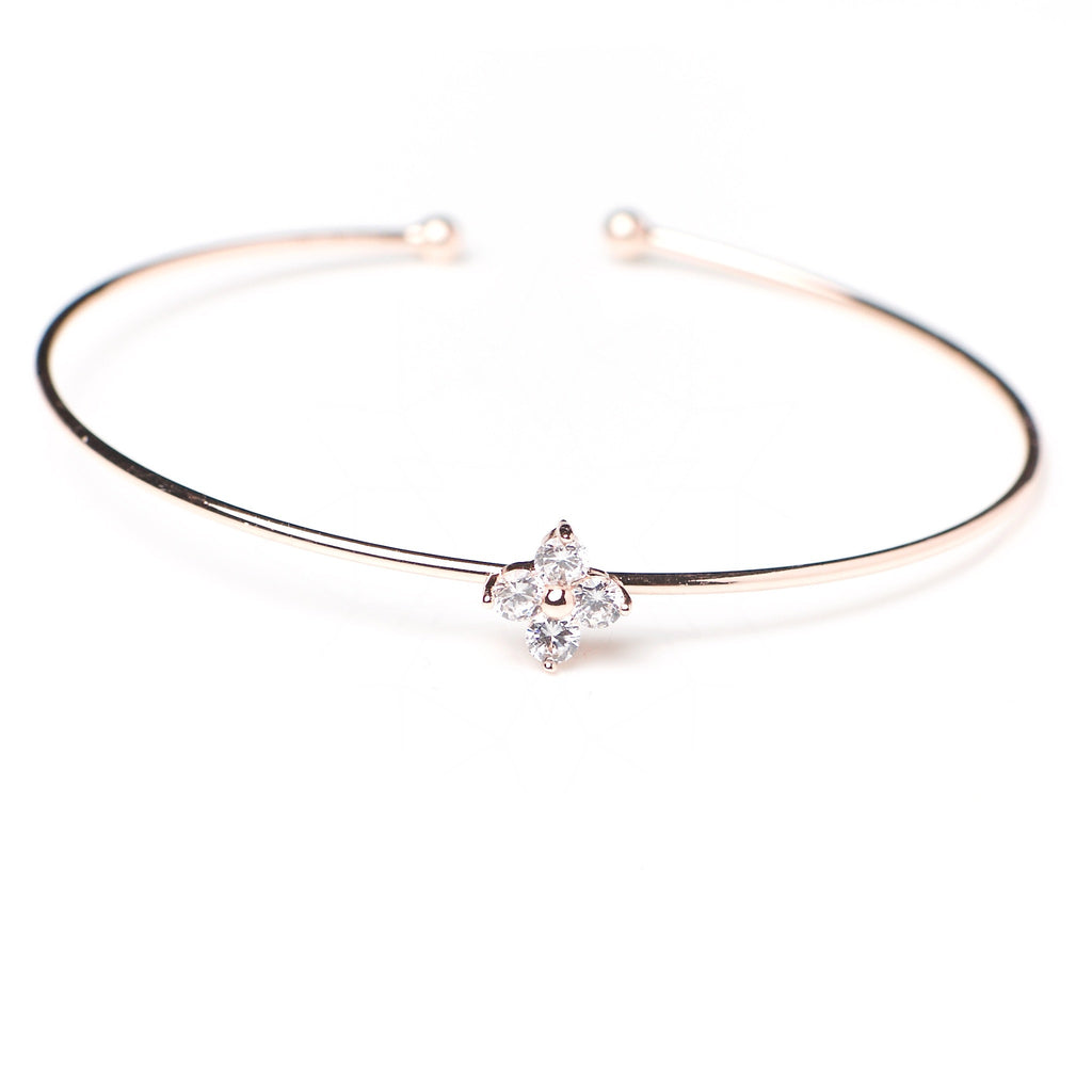 Fortuna - 18k rose gold plated bracelet with zirconium crystals