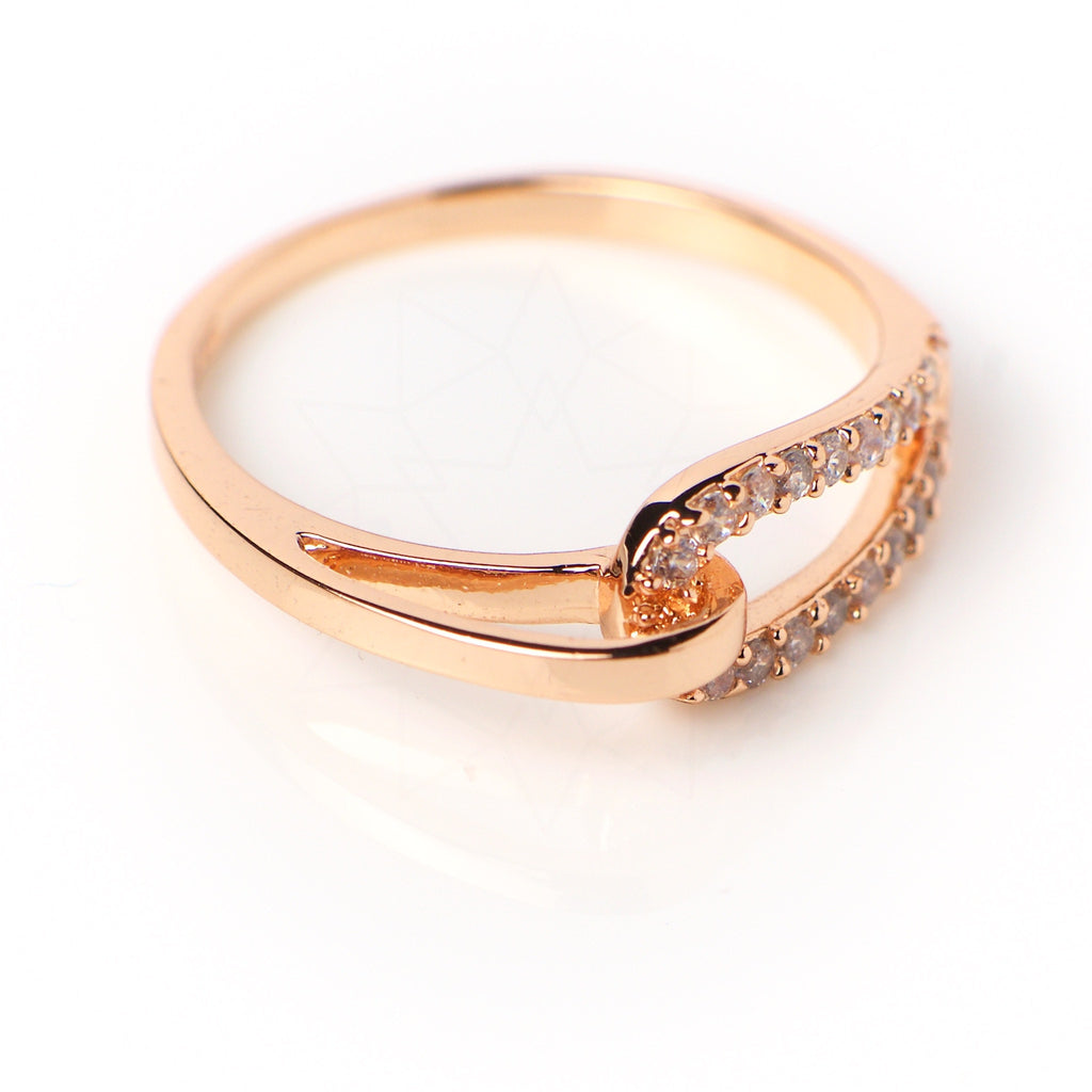 Bound - 18k rose gold plated ring with zirconium crystals 3