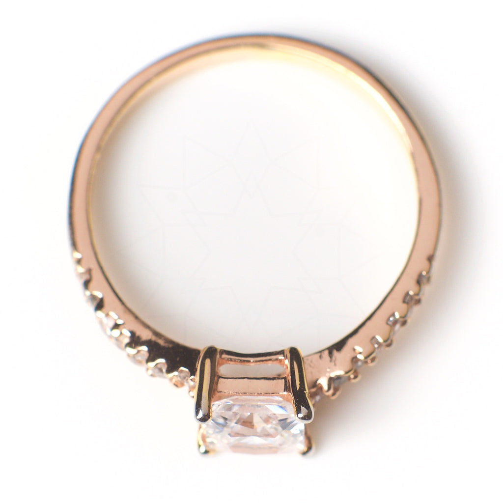 Air - 18k rose gold plated ring with zirconium crystals 3