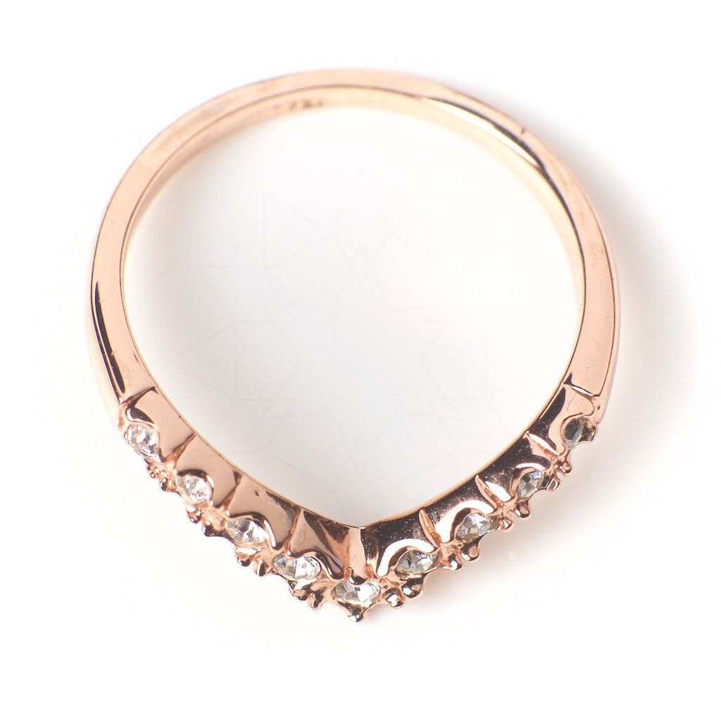 Victory - 18k rose gold plated ring with zirconium crystals 4