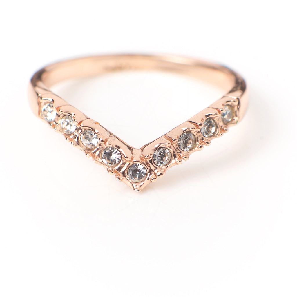 Victory - 18k rose gold plated ring with zirconium crystals 2