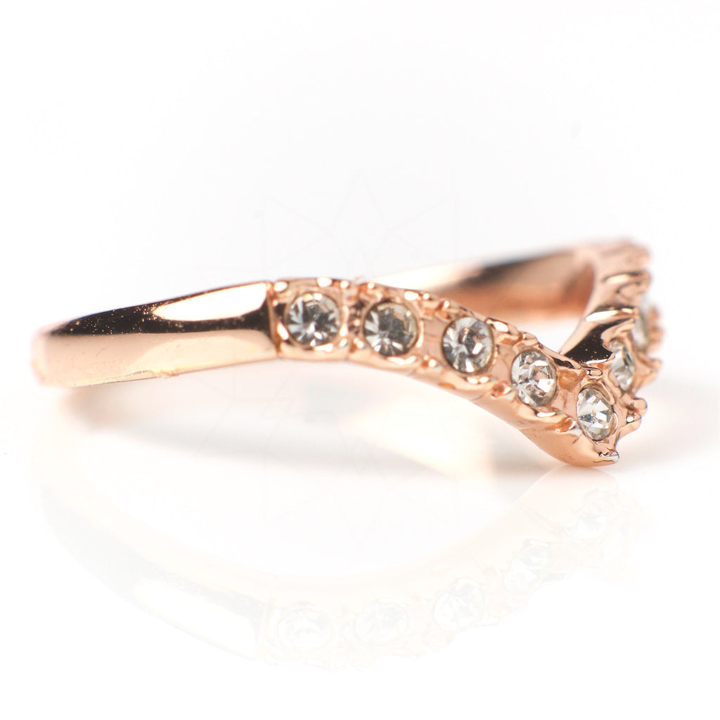Victory - 18k rose gold plated ring with zirconium crystals 3