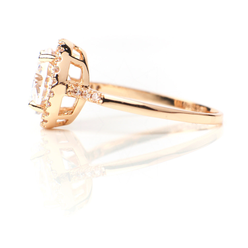 Venus - 18k rose gold plated ring with zirconium crystals 3