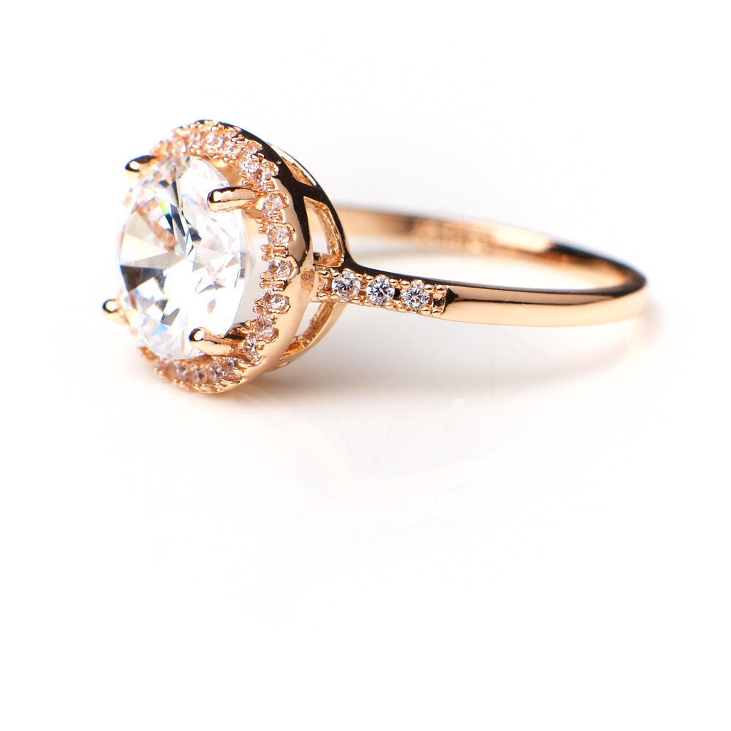 Venus - 18k rose gold plated ring with zirconium crystals 2