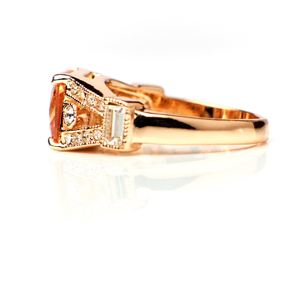 Pele - 18k rose gold plated ring with zirconium crystals 3