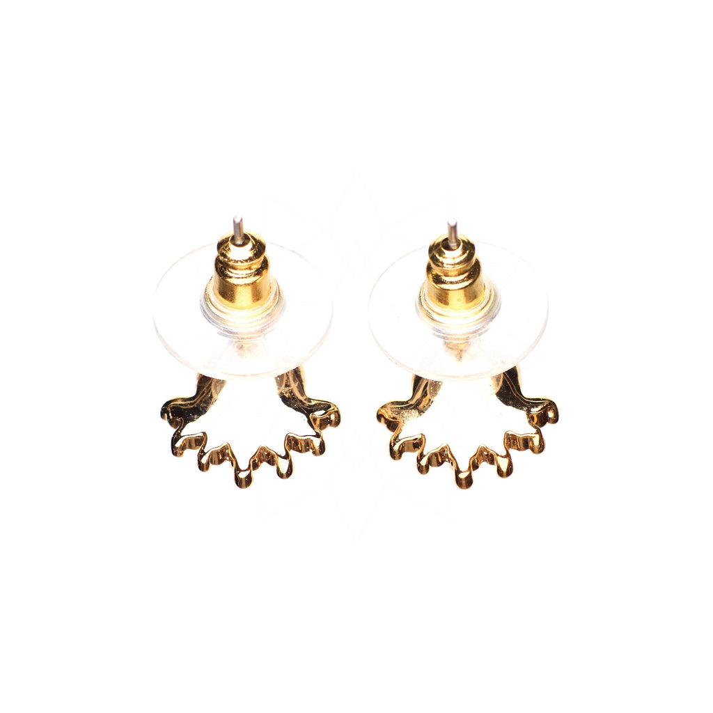 Ocean Deep - 18k rose gold plated earrings with zirconium crystals 3