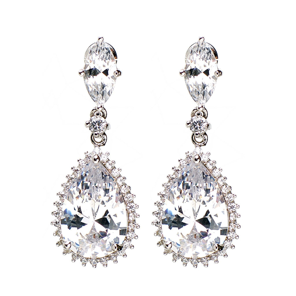 Opportunity - Platinum plated earrings with zirconium crystals 1