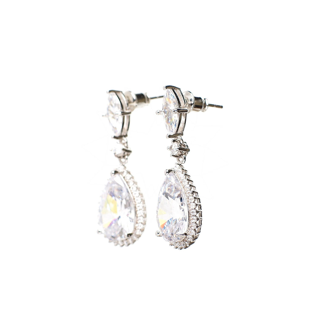 Opportunity - Platinum plated earrings with zirconium crystals 3