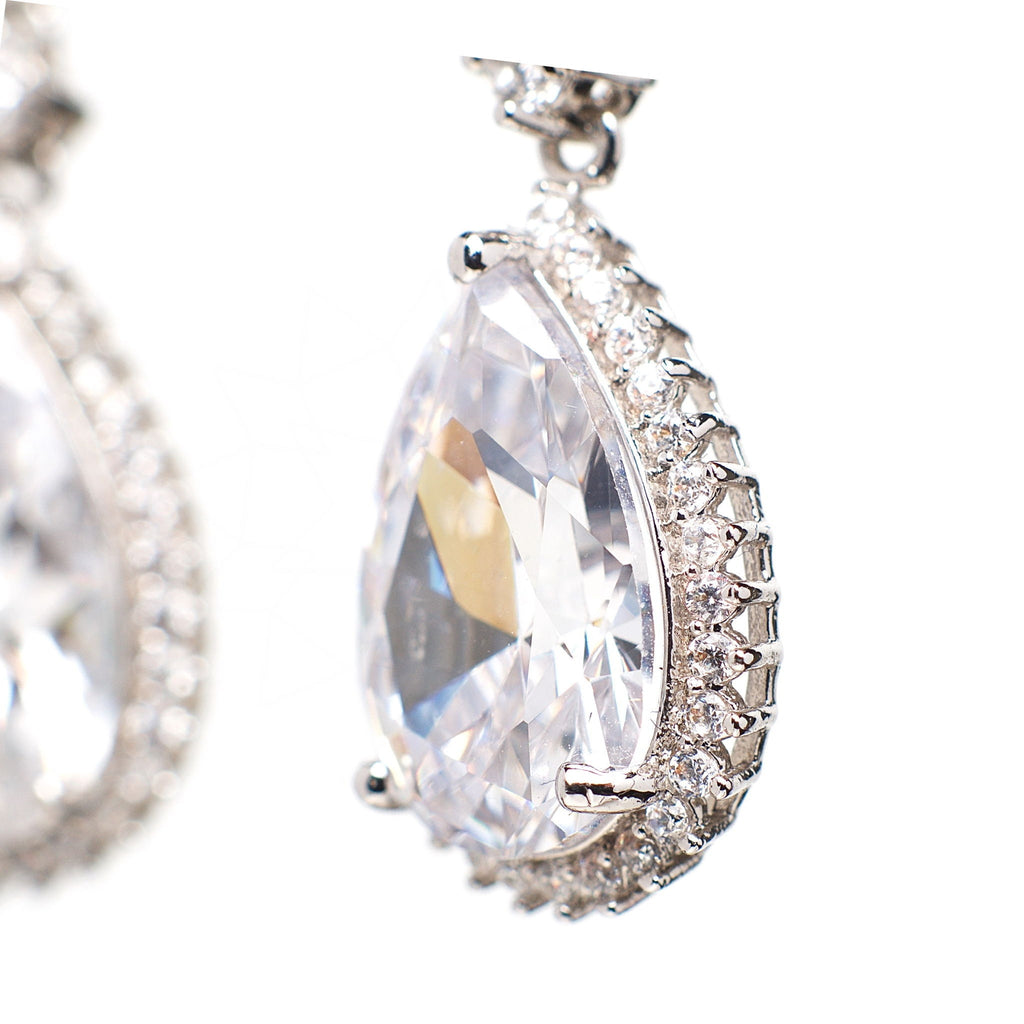 Opportunity - Platinum plated earrings with zirconium crystals 4