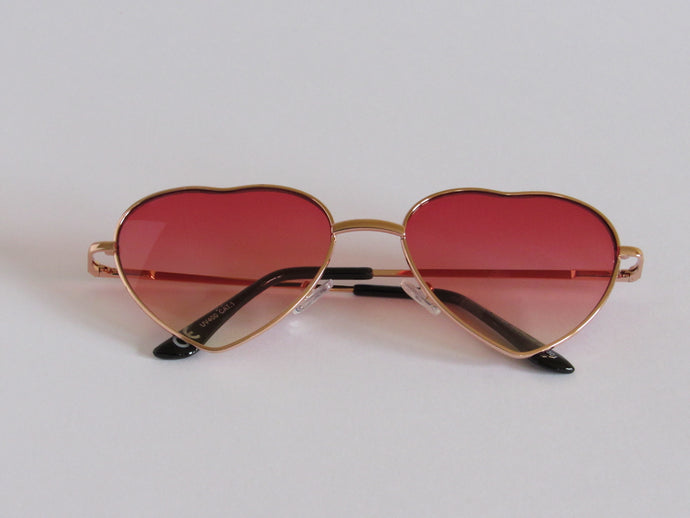 Rose Tint Love Heart Sunglasses