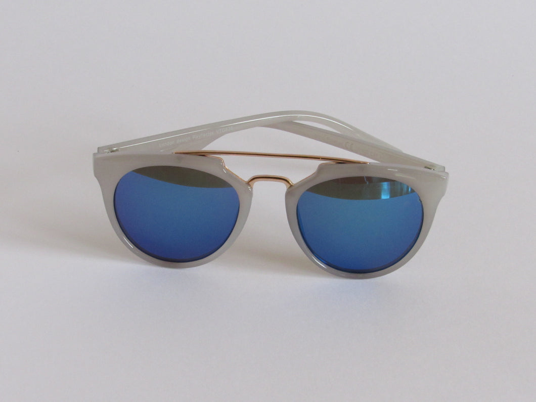 Petrol Blue Mirrored Sunglasses