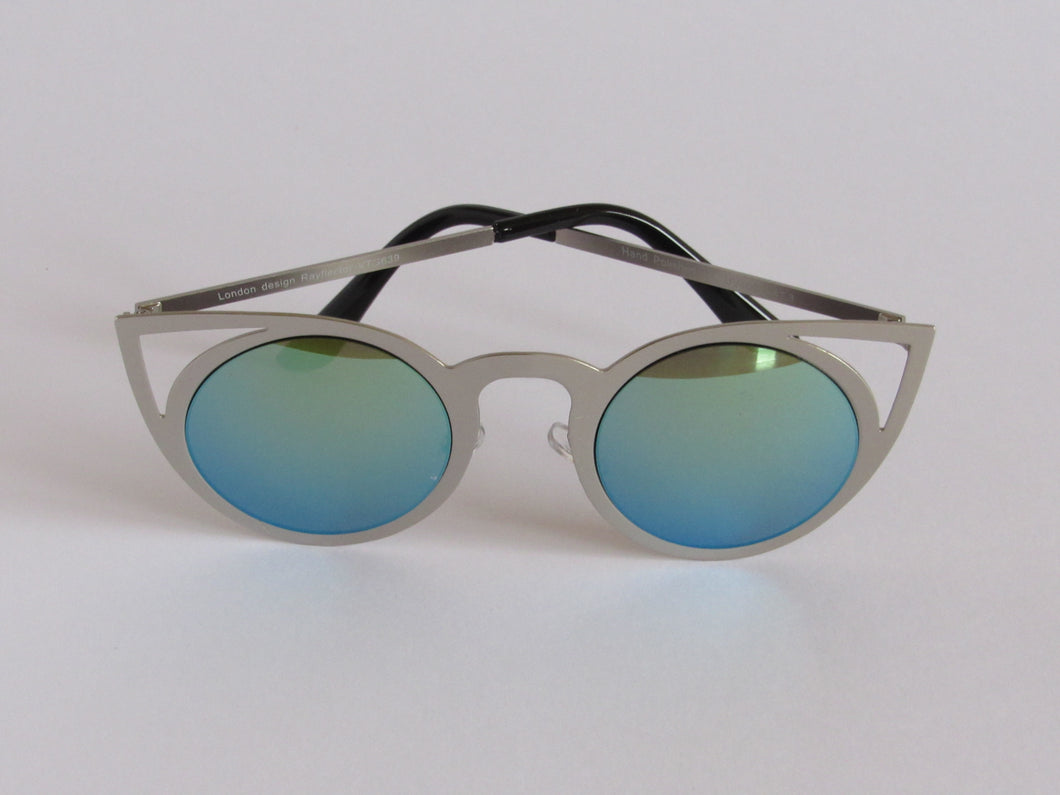 Petrol Colour Mirrored Sunglasses