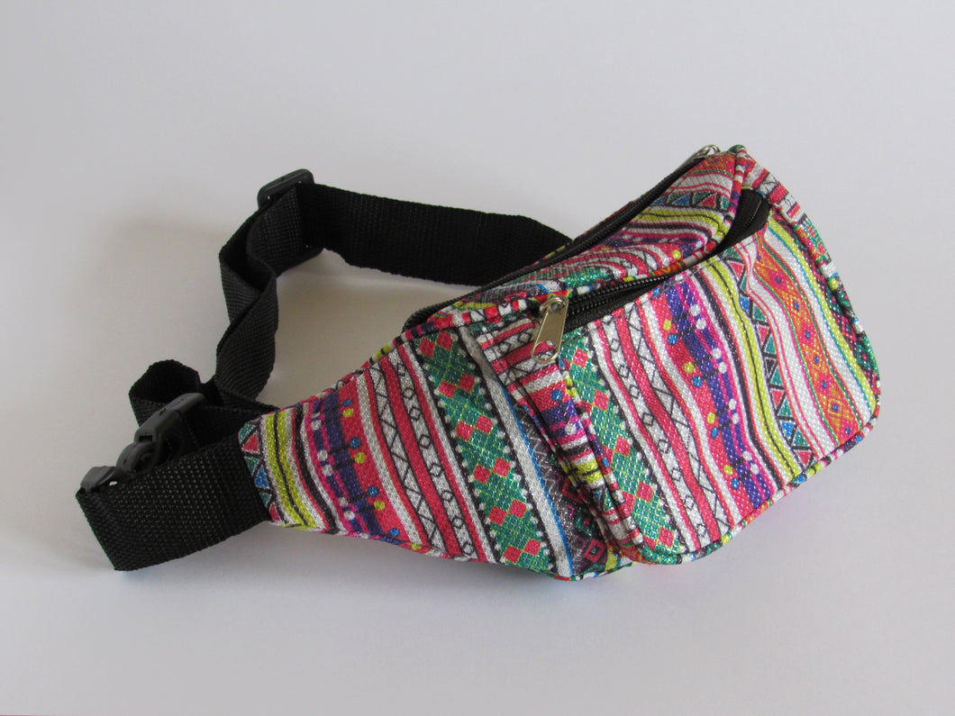 Metallic multi colour bumbag