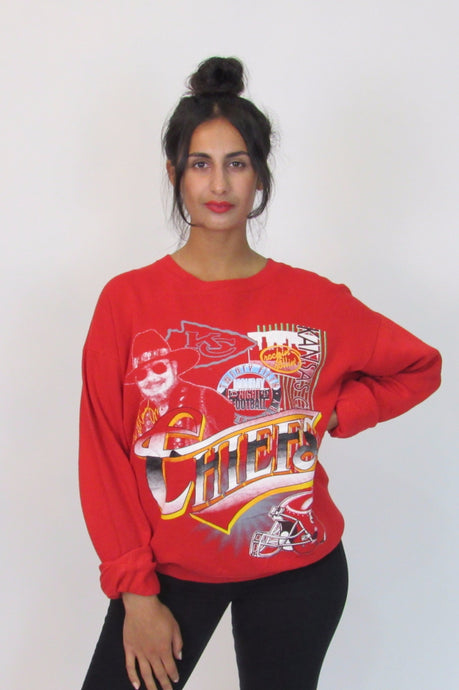 Chiefs red crew sweater