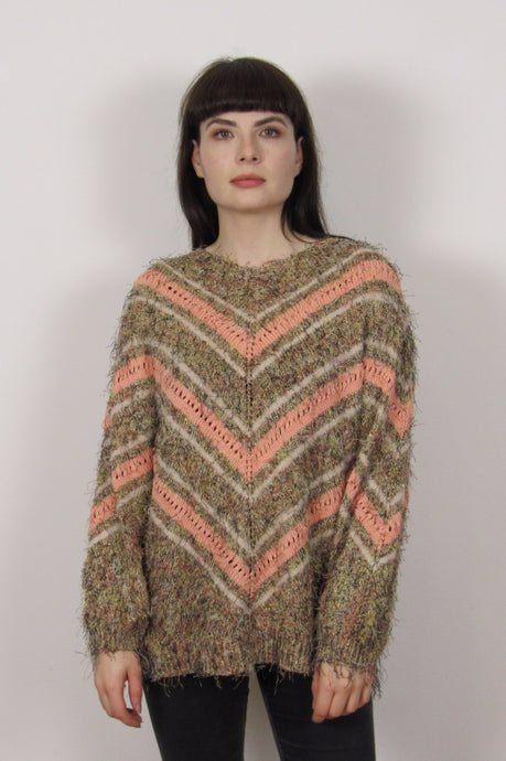 Fuzzy Multicolour Knit