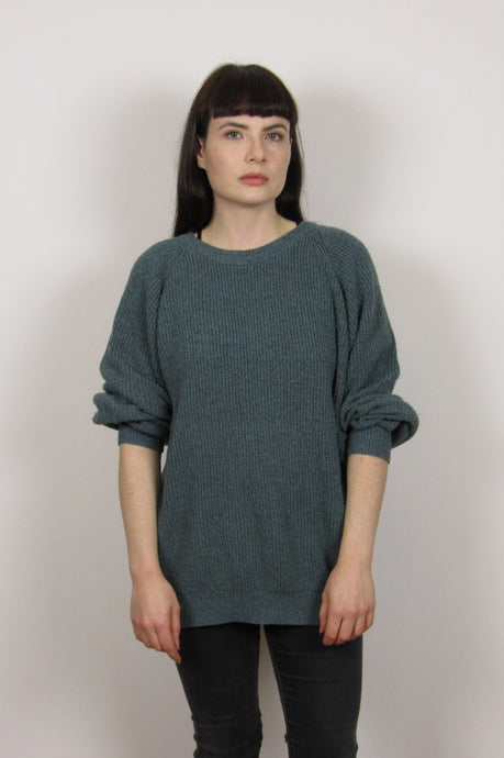 Green Grunge Knitter Sweater