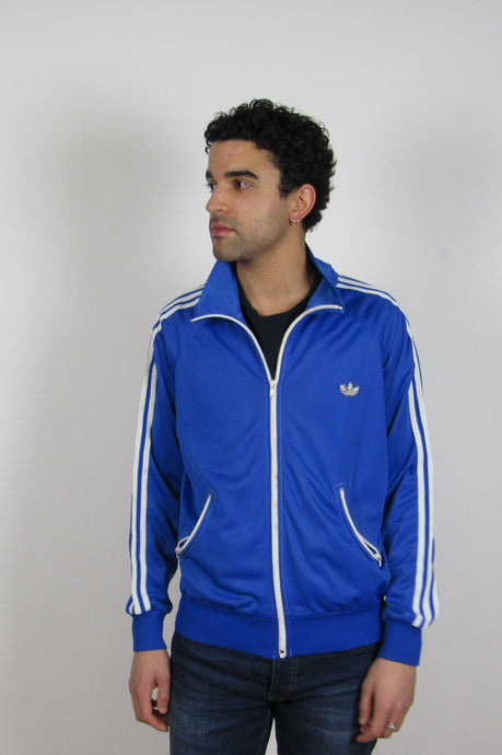 Blue Adidas Zip Jacket