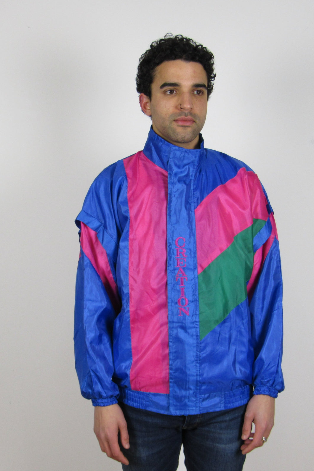 Pink & Blue Shell Jacket