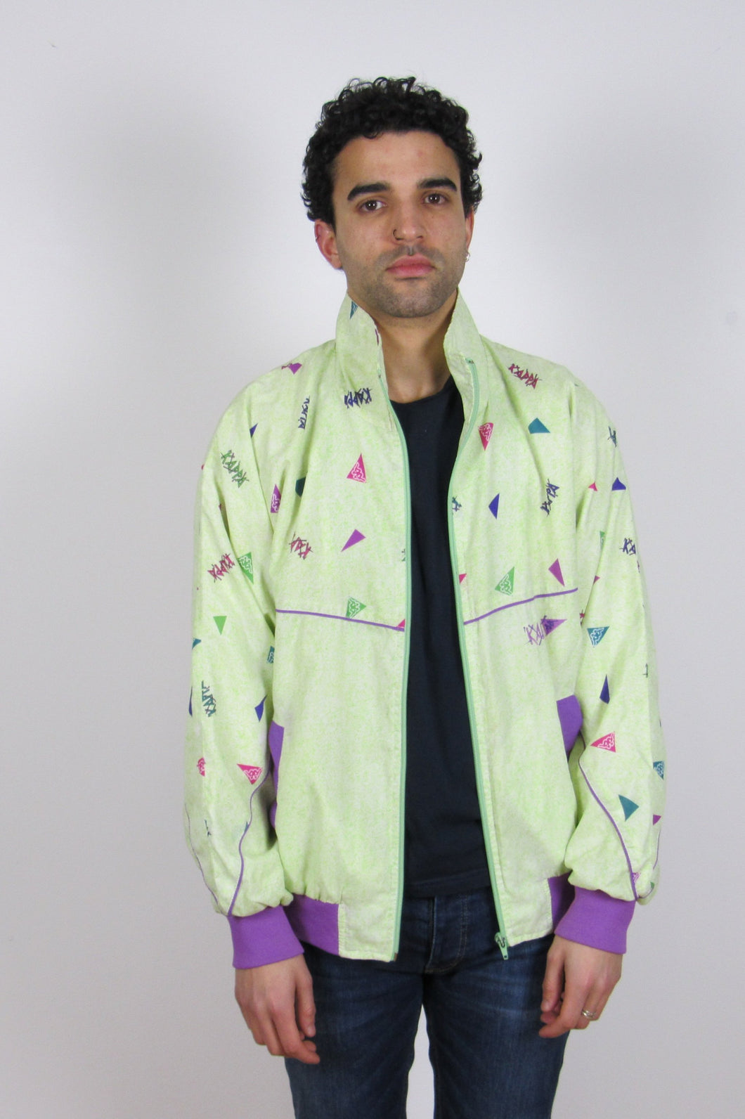 Neon Kappa Zip Jacket