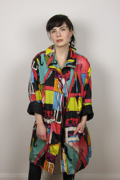 Abstract Print Parka