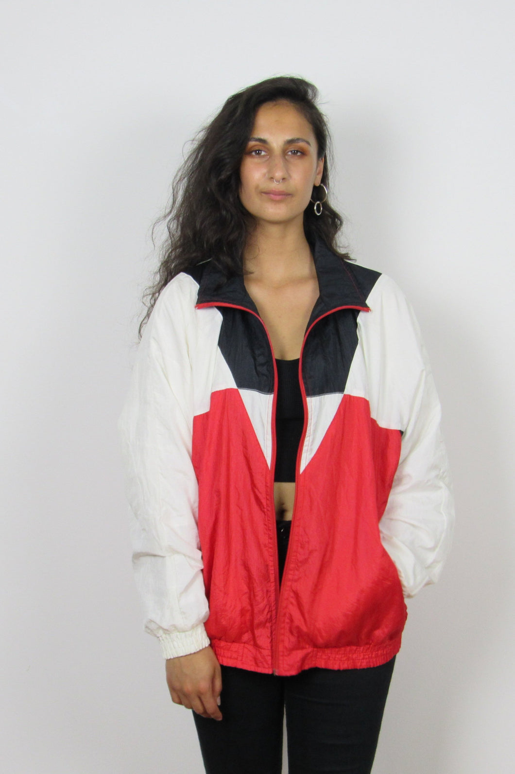 Red and White Shell Jacket