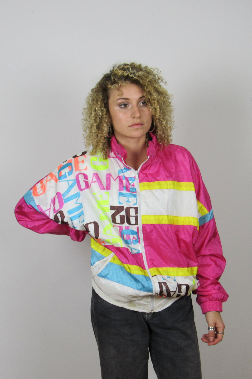 Pink Printed Shell Jacket