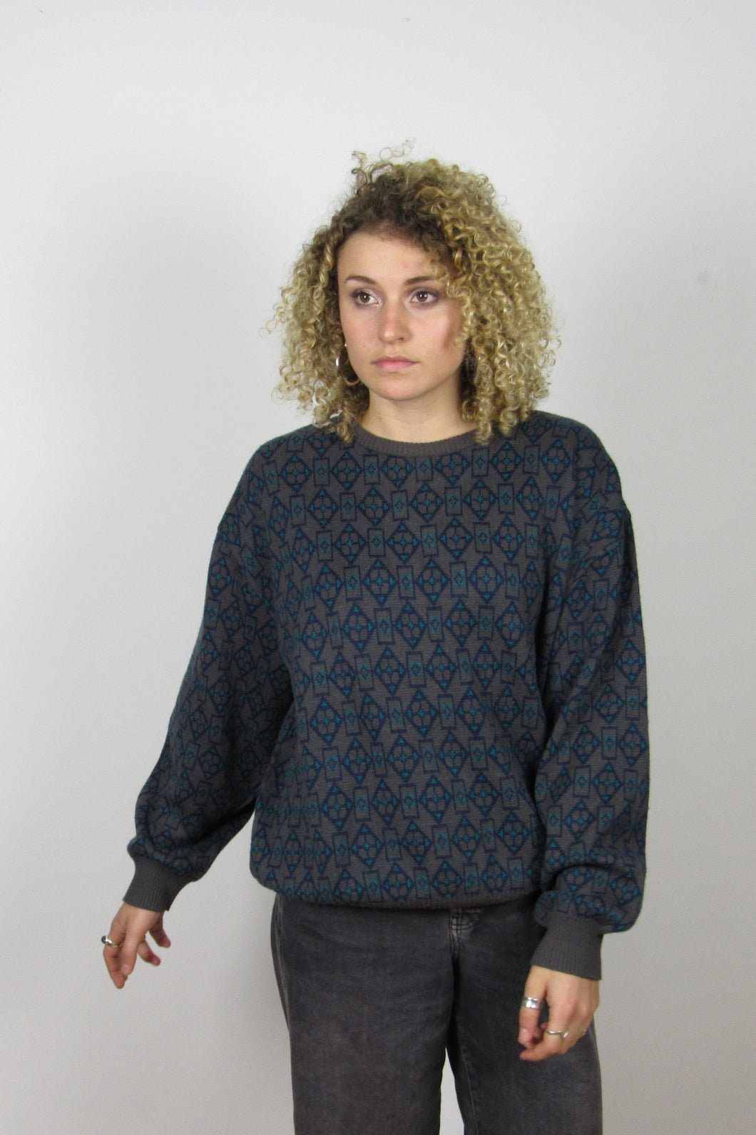 Geometric Grandad Knit