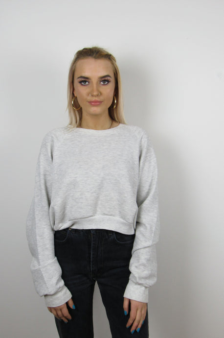Marl Grey Cropped Sweater
