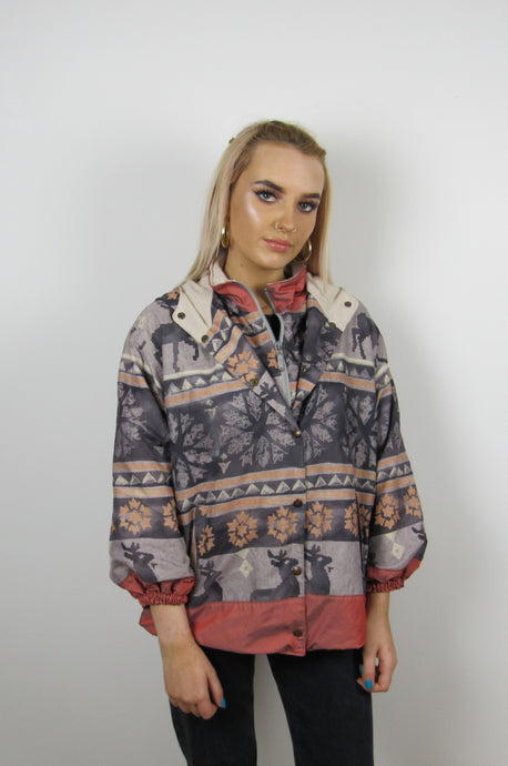 Snowflake Fleece Lined Jacket