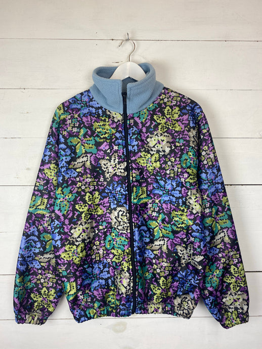 Pixel Print Fleece Jacket