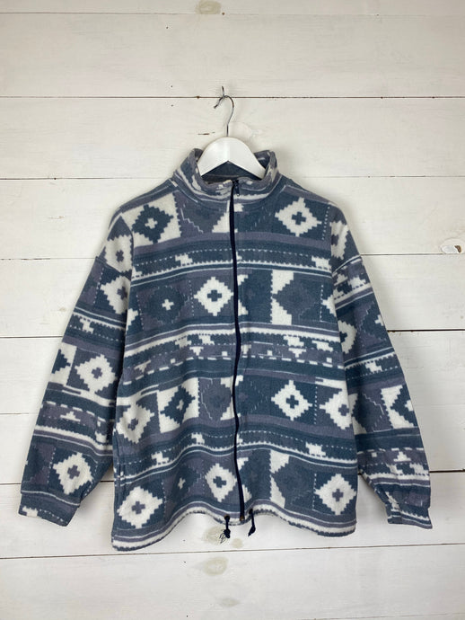 Grey Patterned Fleece