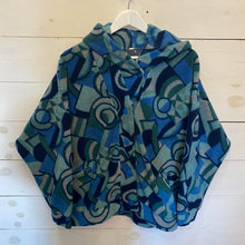 90's Patterned Fleece Jacket
