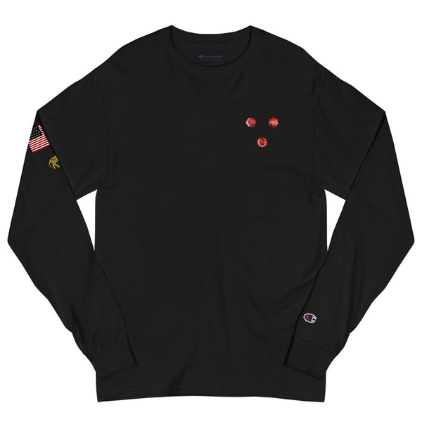 "LVLMERCHANTS ""3"" Men's Champion Long Sleeve Shirt"