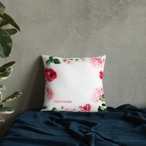 "DNTFCKRND ""Rose"" Premium Pillow"