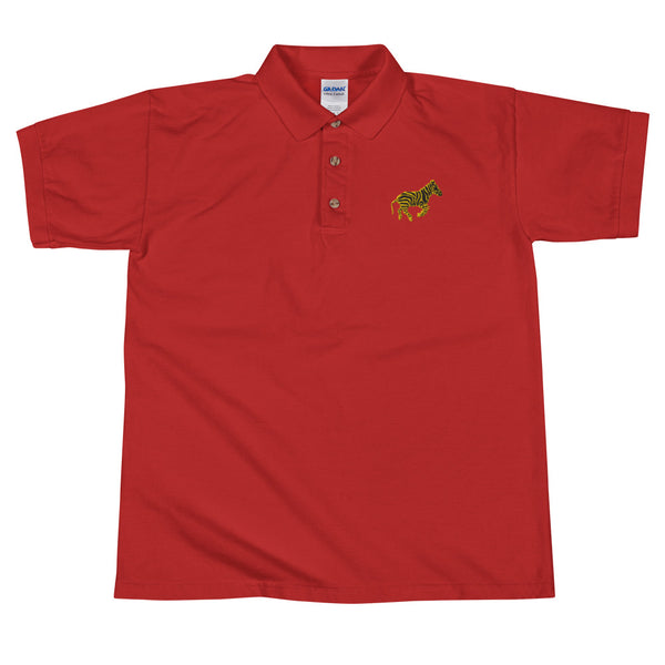 "LVLMERCHANTS ""Royal Zebra"" Embroidered Polo"