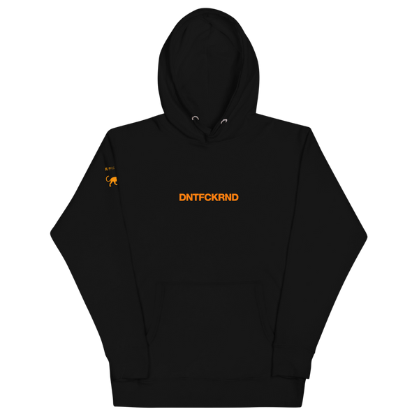 "DFR ""Orange Signal"" Black Premium Hoodie"