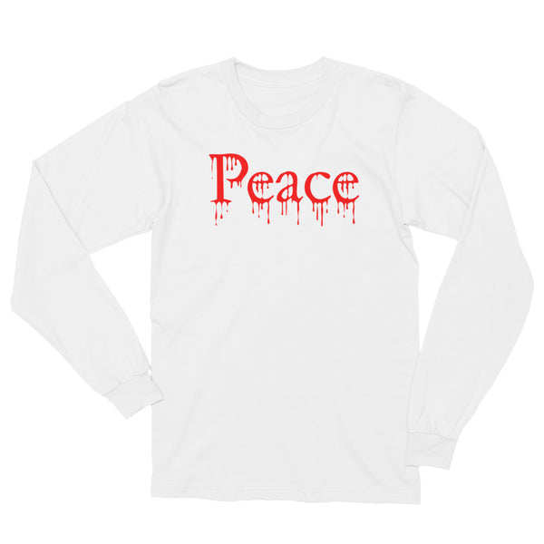 Bloody Peace White L/S T