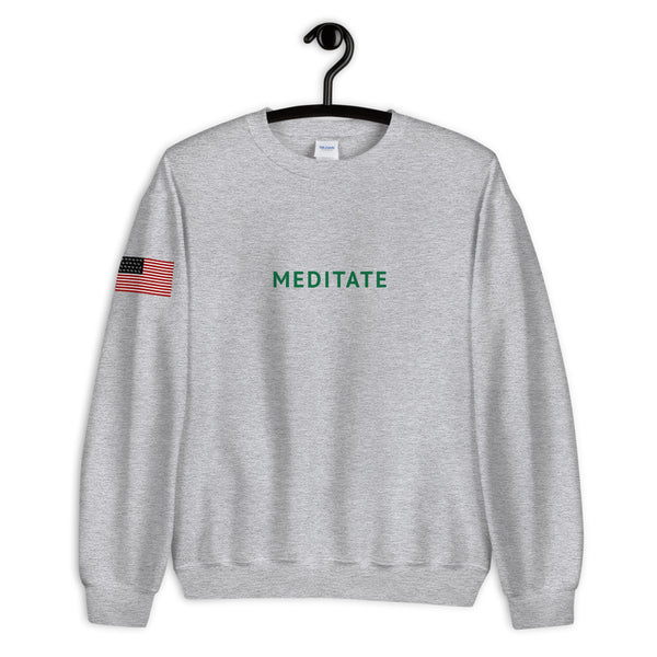"MLR ""Meditate"" Heather Crewneck Sweatshirt"