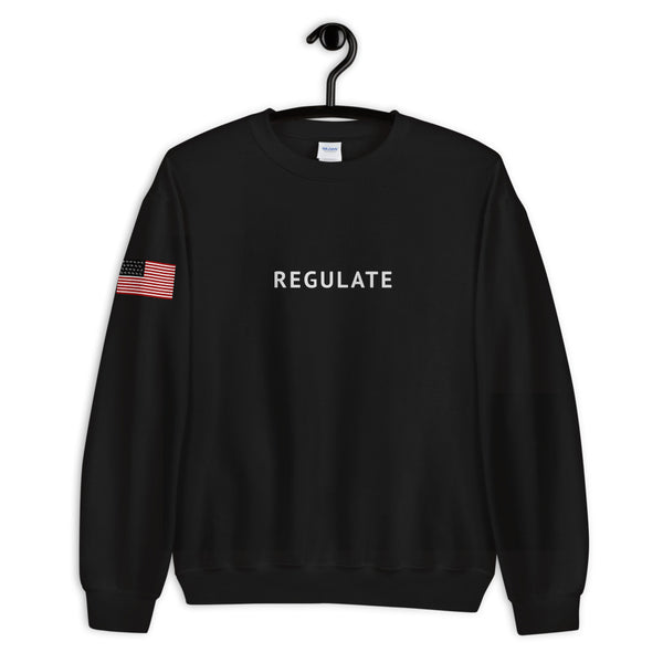 "MLR ""Regulate"" Black Crewneck Sweatshirt"