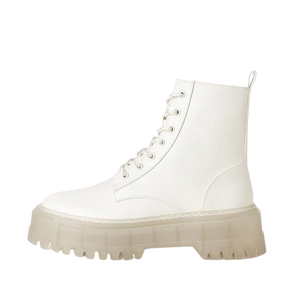 "DATA-X Women's ""Chunky White"" Ankle Boots"