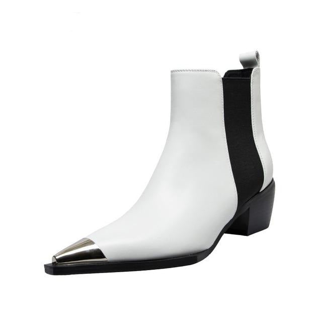 "DATA-X Handmade ""Pointed Toe"" Genuine Leather Chelsea Boot"