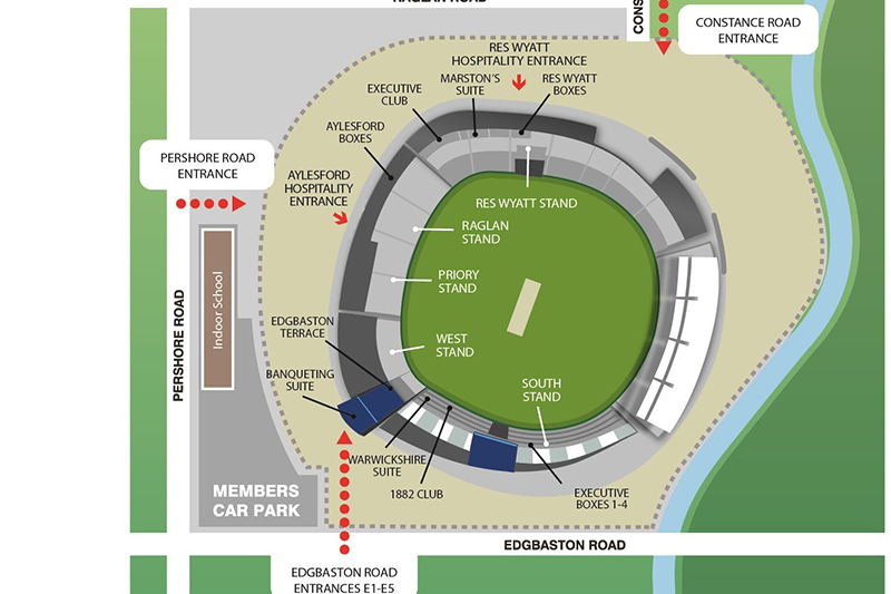 Edgbaston - England V West Indies - Test Match - Fri 12th - Mon 15th June 2020