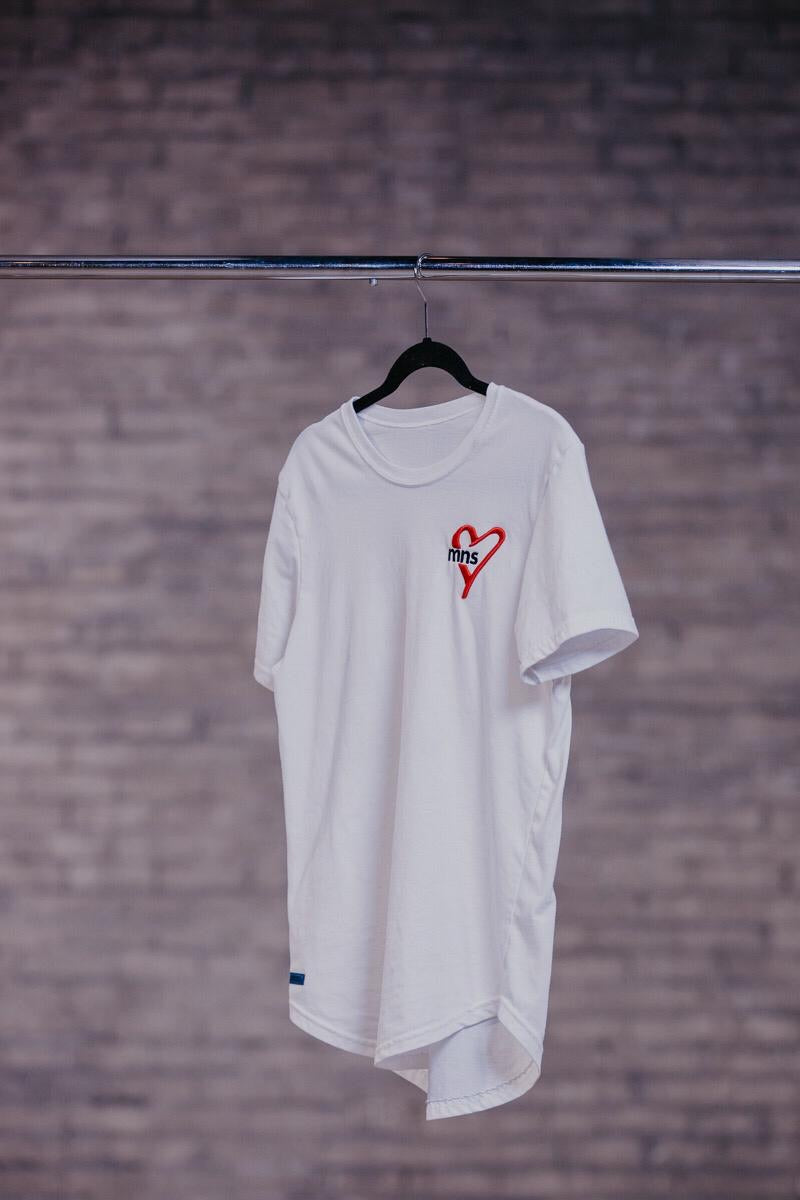 Basic B. Scooped Bottom Tee - White (Men's)