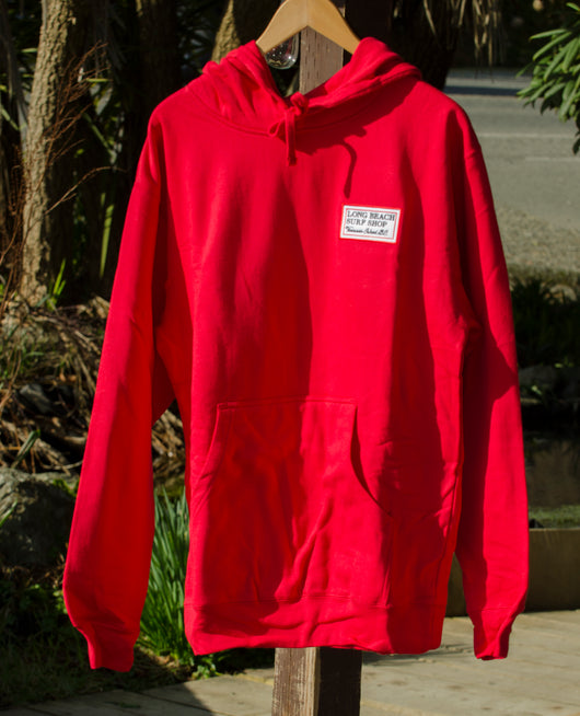 LBSS Patch Wave Crest Pullover Hoodie Red
