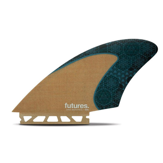 Futures Rastovich Twin Keel Fin Set Jute/Teal