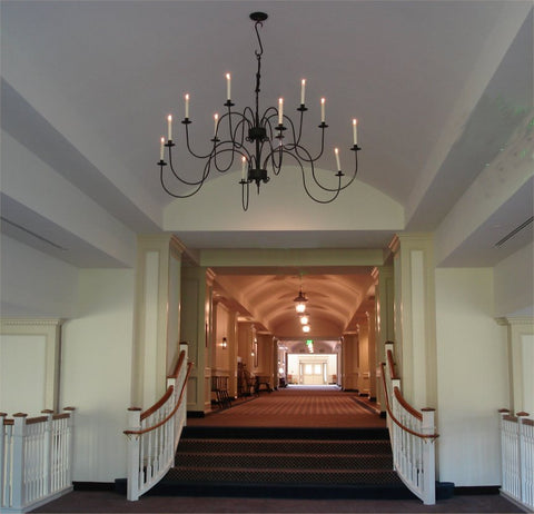 Conference Center Bridge showing Refurbished Wrought Iron Chandelier