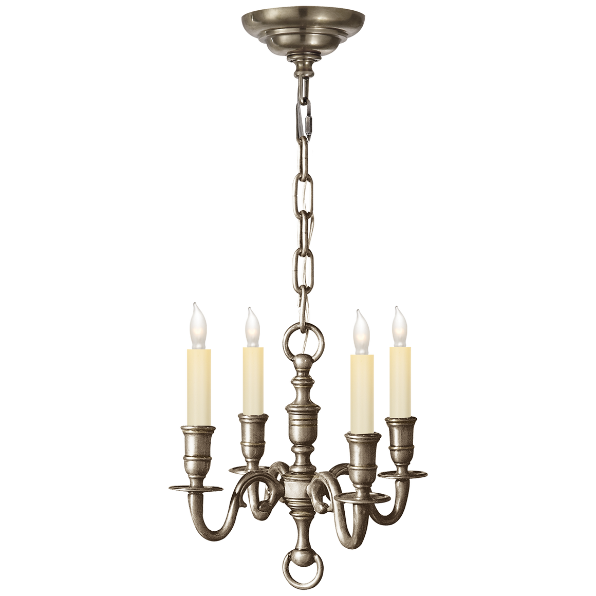 English 4-Light Chandelier