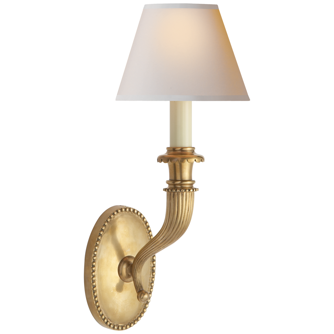 Fluted Horn Single Sconce