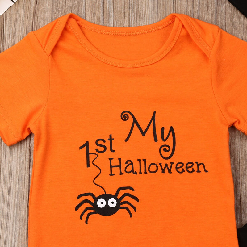 'My 1st Halloween' Spider Outfit with Beanie