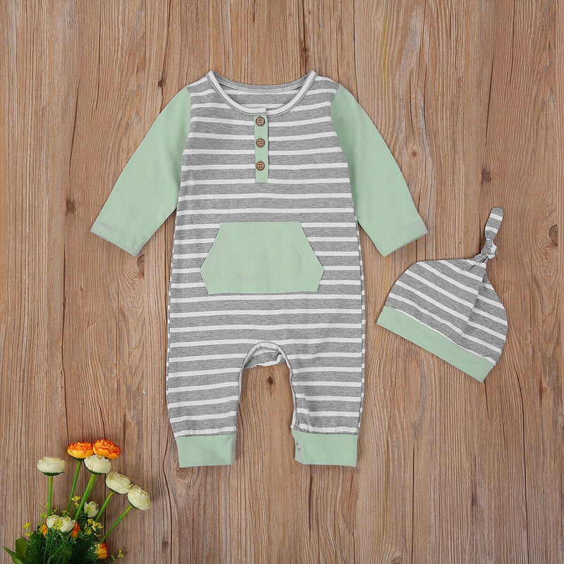 'Felix' Striped Jumpsuit with Beanie